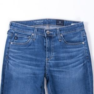 Ag Adriano Goldschmied Jeans - AG Prima Cigarette Crop Cut Hem Jeans